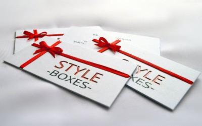 Style boxes   névjegyek